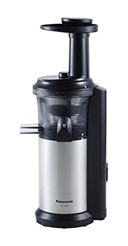 Panasonic MJ-L500 Slow Juicer with Frozen Treat Attachment, Black/Silver (Renewed)