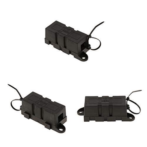 balikha 3X Mega-on Fusibili 300A + 2xFuse Block per Camper/Furgone/Camion/Yacht/Marine/Camper