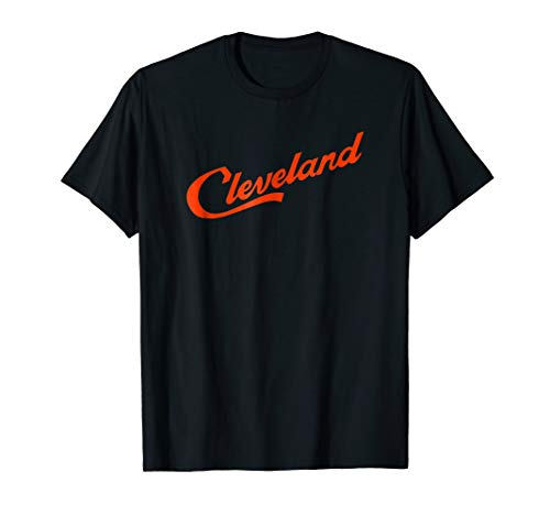 Cleveland Script Logo - Cleveland Ohio Shirt (orange)