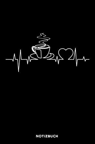 Kaffe Herzschlag: Notizbuch für Kaffee Liebhaber | liniert | 120 Seiten | ca. A5 Format (15.24cm x 22.86 cm)