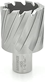 Accusize Industrial Tools Hss Annular Cutter, 1-1/2'' Diameter by 1'' Depth with 3/4'' Weldon Shank, Ansi Standard, 2080-2029