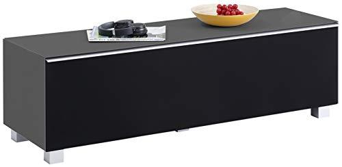 moebel-dich-auf.de Brandneu - Glas anthrazit matt - TV-Board Soundboard Maja 7738 Soundconcept mit Akustikstoff schwarz in 180 x 43 x 42 cm