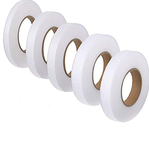 ToBeIT 5 Rolle Saumband zum aufbügeln (350Yard) - Saumband Bügelsaumband Bügeleisen Klebeband Stoff Fusing Tape Hem Tape (A)