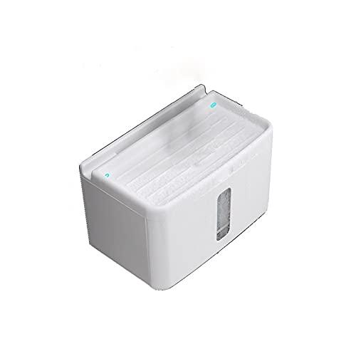 FEIHAIYANY Zjh - Caja de pañuelos para el hogar, 1 unidad, caja de almacenamiento para limpiaparabrisas, apta para cocina, sala de estar, tamaño: 15,8 x 14,3, color blanco