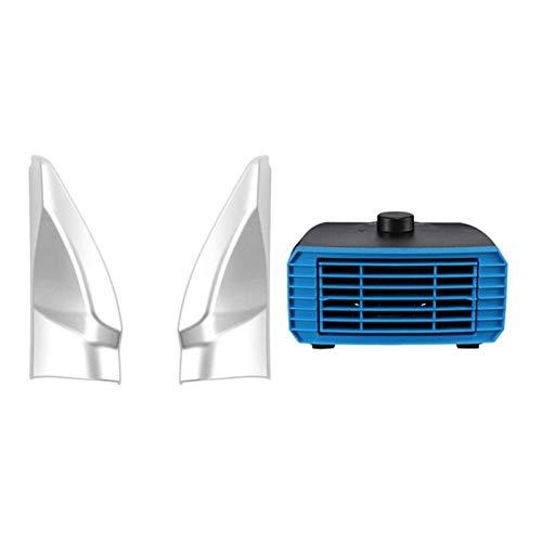 Descongelador de coche para coche, 12 V, 180 W, portátil, calefacción, ventilador de refrigeración, descongelador, con puerta delantera, cubierta de bisel de pilar A, embellecedor de parabrisas