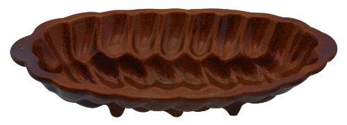 Original K&K Hefezopf Backform groß 40.0x16.5x9.0 cm aus Steinzeug-Keramik
