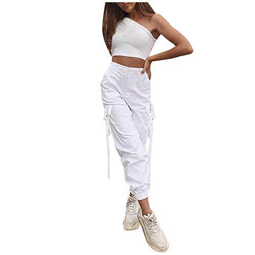 Día de San Valentín Harem Hippie PantsWomen Moda Joggers Streetwear Sueltos Pantalones Cargo de Cintura Alta Pantalones