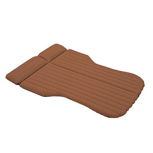 Strandzelt Auto-Spielraum-aufblasbare Matratze-aufblasbares Bett Camping-Positiv und Negativ zweifarbig vorhanden Camping Zelt (Color : Brown, Size : 195 * 140CM)