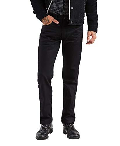 Levi's Men's 501 Original Fit Jeans, Polished Black, 34W x 32L