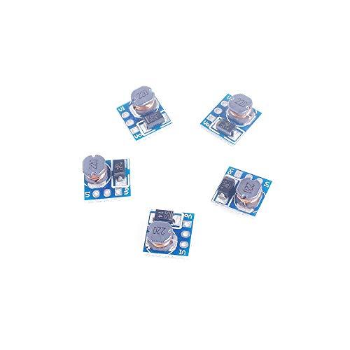ANGEEK 5PCS 0.9-5V To 5V DC-DC Step-Up Power Module Voltage Boost Converter Board 1.5V 1.8V 2.5V 3V 3.3V 3.7V 4.2V To 5V