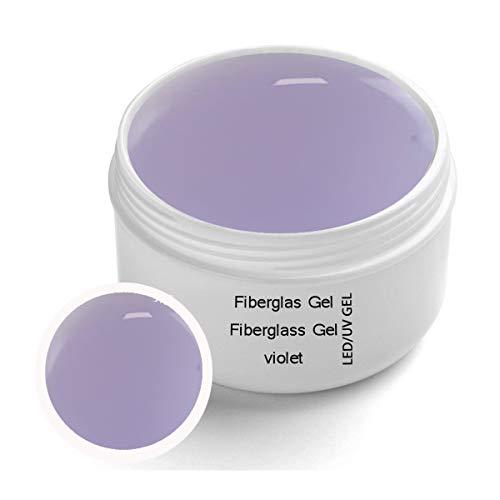 Gel de Fibreglass UV Violet Premium Line Clear 30 ml – finition, adhésif en gel avec protection contre jaunissement