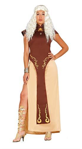 Guirca - Kostüm Drachenkönigin, braun, Damen: 44 (M), 84617