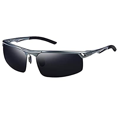 DUCO Men's Polarized Sports Sunglasses for Men Driving Sun Glasses 8550
