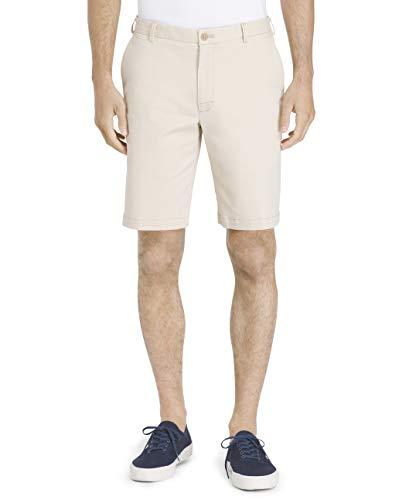 IZOD Men's Saltwater 9.5' Flat Front Chino Short, Pale Khaki Brown, 36