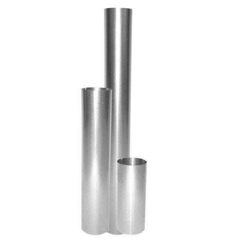 Ofenrohr feueraluminiert (FAL), gerade, rostfrei - Rauchrohr, Kaminrohr silber - für Pellettofen und Kamine - geprüft nach EN 1856-2, Maße: Länge: 500 mm x Ø 100 mm
