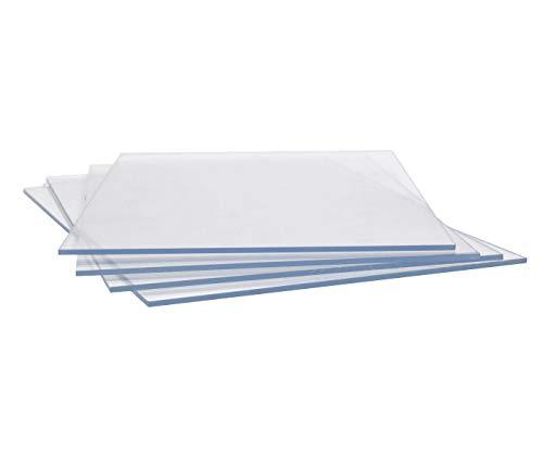Acrylglas Scheibe Acryl Klare Acrylscheibe Durchsichtige Acrylglasscheibe Zuschnitt 2-25mm Platte Scheibe Glasklar Klar Transparent, (Stärke 3 mm, 40x30cm)