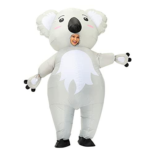 unknows ETSK Disfraz inflable de Koala para adultos, cosplay, fiesta de Halloween, disfraces divertidos de carnaval