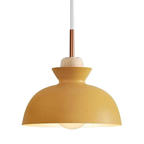HDDD Moderne Nordic Macaron plafondlamp van aluminium + houten kandelaar voor de keuken met hanglamp hanglamp (kleur: grijs)
