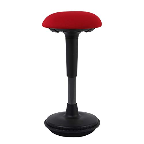 Flexispot Ergonomie Wobble Hocker Arbeitshocker Bürohocker Ergonomische Stehhilfe Hoch verstellbar Sitzhocker Drehhocker Perfekt für Stehpult (rot)