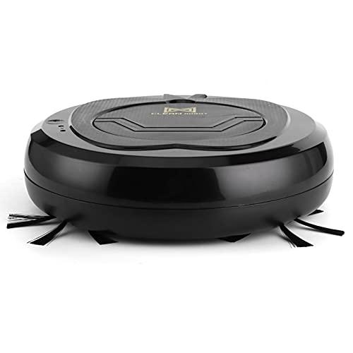 Sweeping Robot-1800pa Robot de barrido de pisos inteligente 3 en 1 USB recargable con interruptor táctil Negro