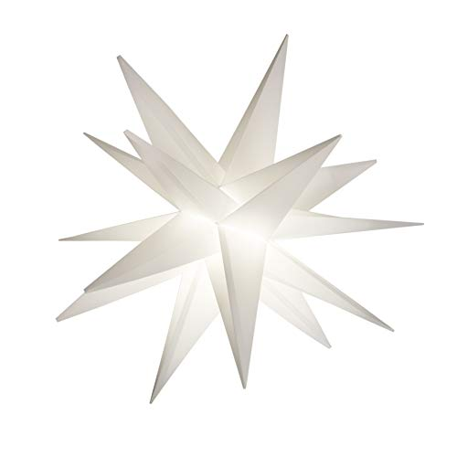 Elf Logic 18' Easy Assembly Moravian Star - Hanging Outdoor Christmas Star Light - Use as Holiday Decoration, Porch Light (LED -Plug in, 18 Inch)