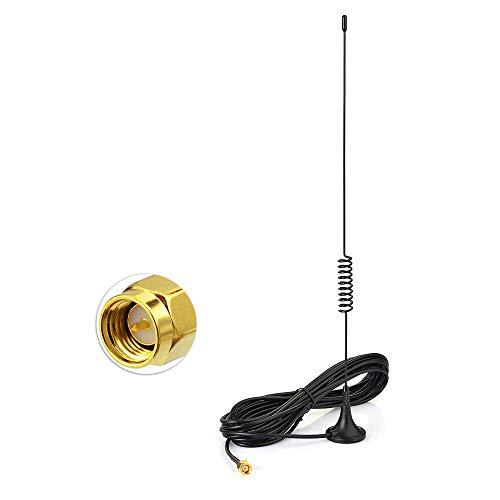 Bingfu Doble Banda VHF UHF Antena de Radioaficionado Móvil, Antena Macho SMA Base Magnética con Cable de Extensión 2M RG174 para Kenwood BaoFeng HYT PUXING TYT Wouxun Radio Bidireccional Walkie Talkie