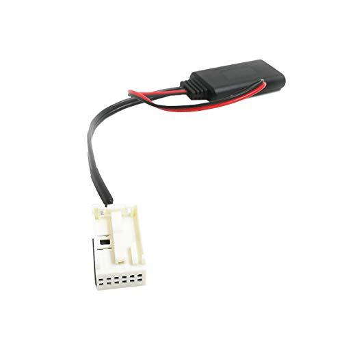 Summor Adaptador De Audio Auxiliar De Radio InaláMbrico De MóDulo del Coche para 207 307 407 308 C2 C3 Rd4