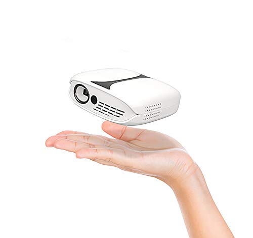 Proyectores de Cine en casa, Mini proyector de Video LED 1080p Compatible con 5200 Mah con Soporte y Control Remoto
