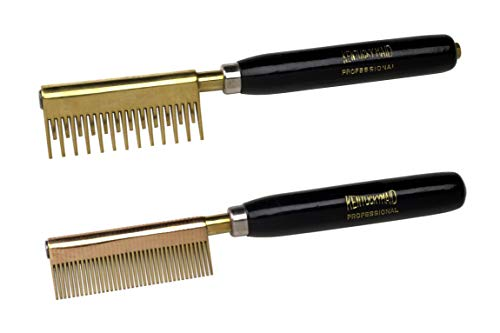 Kentucky Maid Classic Two Pack Set of Pressing Combs for Ultra Smooth Straightening (Detangler and Medium tooth)