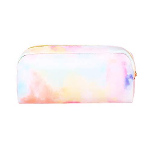 gulang-keng Kawaii Estuche para lápices, colorido, color rosa, bolsa de maquillaje, caja de almacenamiento para artículos escolares, papelería,
