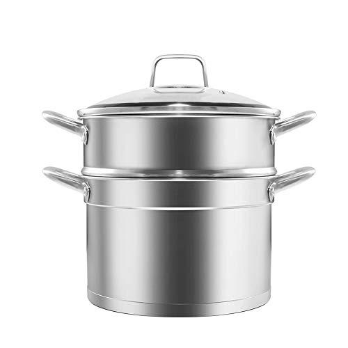 Vaporizador de alimentos, profesional de acero inoxidable de inducción, método de cocción saludable, 2 capas, 28 cm