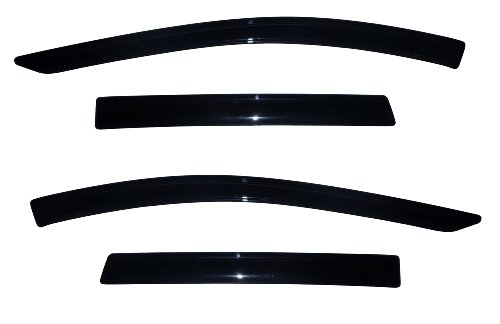 Auto Ventshade 94383 Original Ventvisor Side Window Deflector Dark Smoke, 4-Piece Set for 2013-2018 Ford Escape