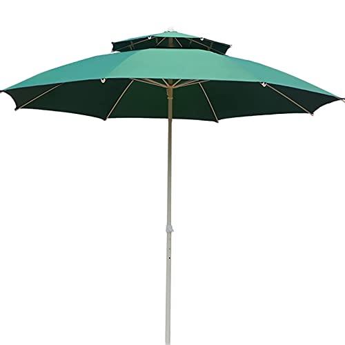 Riyyow Parasol Paraguas 7 pies Patio Paraguas a Prueba de Viento a Prueba de Viento con Dosel Doble, Paraguas al Aire Libre para jardín terraza Piscina Patio