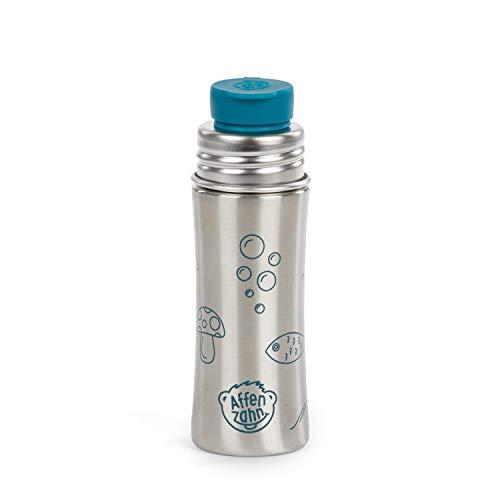 Affenzahn Trinkflasche aus Edelstahl (330ml) bpa-frei für Jungen und Mädchen im Kindergarten und Kita - Petrol