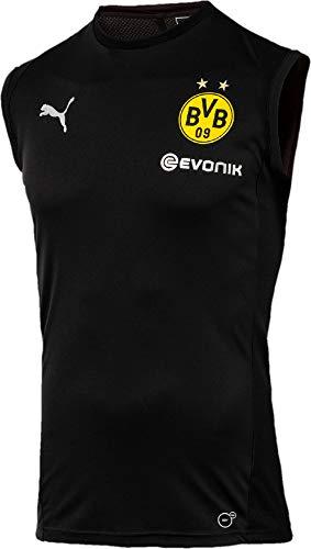 PUMA Herren BVB SL with Sponsor Logo Training Jersey, Black, XL