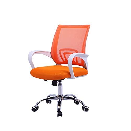 Goodhelper - Bürostuhl mit Netzstoff, Drehstuhl, Computer-Stuhl, Drehstuhl, Bürostuhl, 5 Farben zur Auswahl (Farbe: Orange)