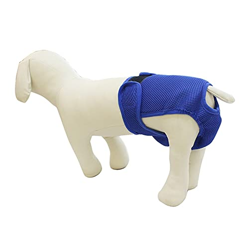 Pantalones menstruales cómodos, pañales, Ropa Interior a Prueba de acoso para Perros, Pantalones fisiológicos Reutilizables para Perros (Color : Royal Blue, Size : S)