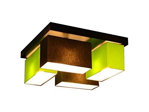 Deckenlampe Deckenleuchte Milano V4D Lampe Leuchte 4 flammig verschiedene Varianten (Braun-Grün)