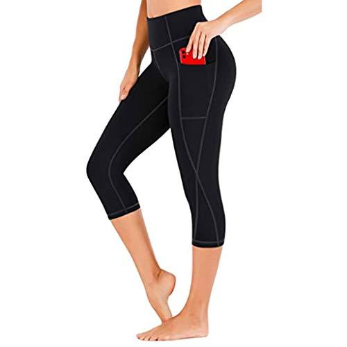 NAQUSHA Leggings de entrenamiento de bolsillo sólido para mujer, talla grande, levantamiento de glúteos, pantalones de yoga