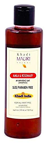 Khadi Mauri Herbal Amla & Rosemary Shampoo - Promotes Hair Growth &...