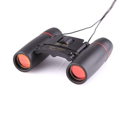 SLKIJDHFB Prismáticos 30x60 compacto plegable mini telescopio impermeable con zoom de visión diurna y nocturna para niños, adultos, al aire libre, Birding,