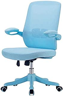 CHAIR Silla Escritorios y sillas para el hogar, sillas de estudio ajustables en altura en dormitorios de estudiantes, adecuadas para conferencias y sillas de oficina de recepción,Azul