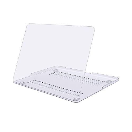 MOSISO Plastic Hard Shell Snap On Case Cover Only Compatible with Older Version MacBook Pro Retina 13 Inch (Model: A1502 & A1425) (Release 2015 - end 2012), Clear/Crystal