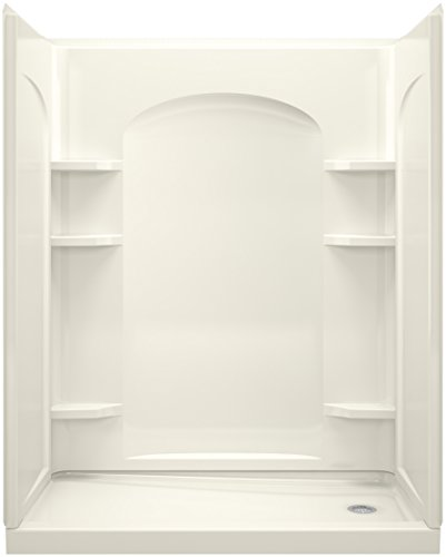 a KOHLER Company  Ensemble Series 7218 Right-Hand Shower with Age in Place Backers, 60 by 32-Inch - Sterling 72180126-96