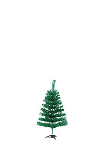 SAILUN 90 Cm Albero Di Natale Artificiale Albero Di Natale Con Supporto In Metallo, A Pochi Minuti Di Montaggio Rapido Con Sistema Di Piegatura (90Cm, Pvc Verde)