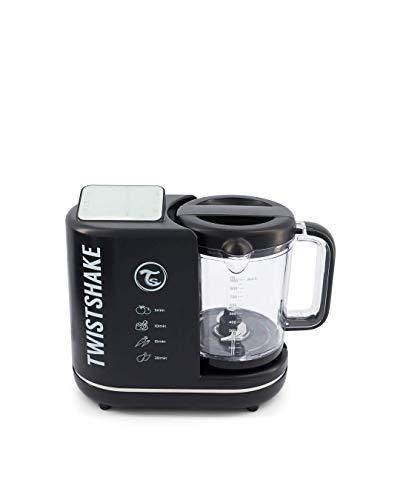 Twistshake 6in1 Baby Food Processor Black Batidoras, licuadoras y robots de cocina, Plástico