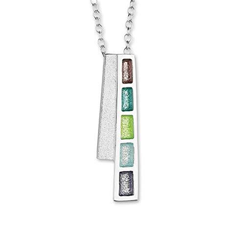 Ortak Scotland 'Indulge' Multi Colour Sterling Silver Necklace Pendant