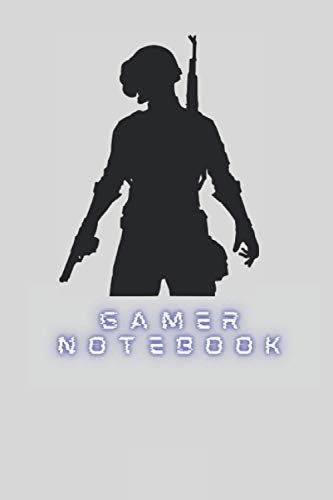 """Gamer Notebook: Gamers notebook journal 120pages 6""""*9"""" paperback lined notebook for pc, console and mobile gamers"""