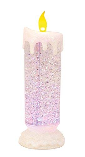 Lifestyle & More verlichte kaars met gekleurde ledverlichting van acryl met water gevuld hoogte 24 cm