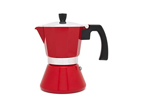 Cafetera espresso 6 tazas TIVOLI-roja (Induccion)